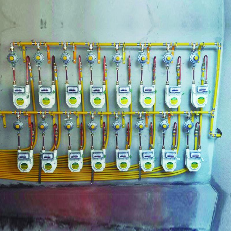 Conexão multicamada para gás