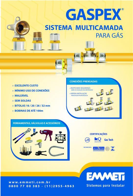 Distribuidor de tubo multicamada para gás